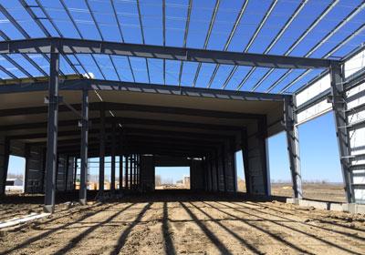 pre-fabricated metal frame building