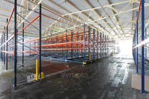 Distribution warehouse - industrial metal building