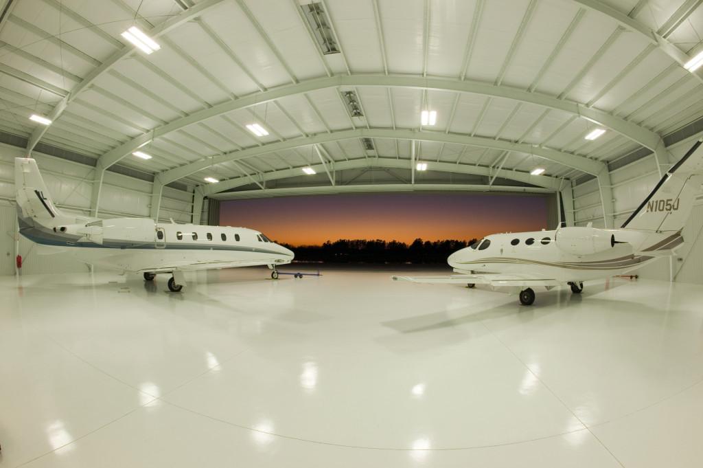 metal aircraft hanger