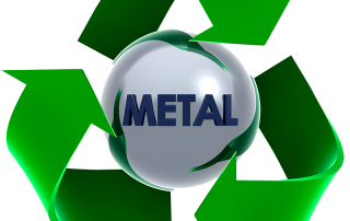 metal recycling icon