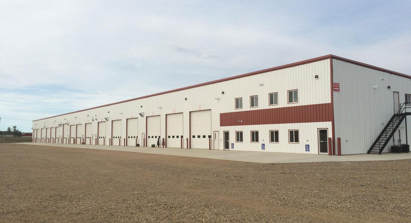 steel frame garage building
