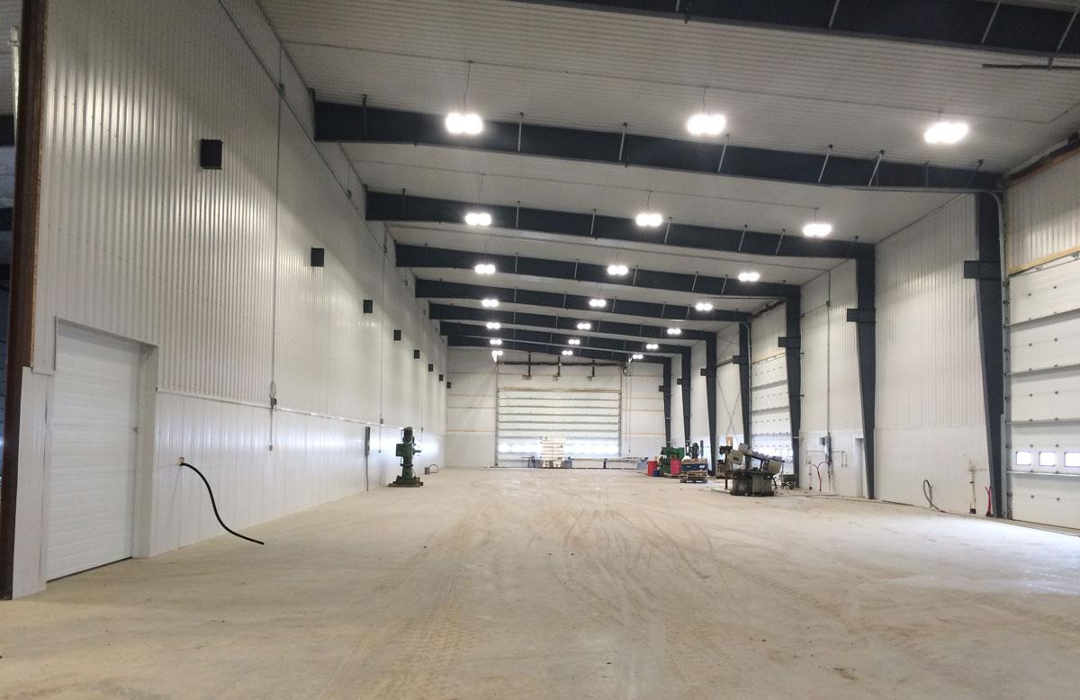 Agri-industrial building interior