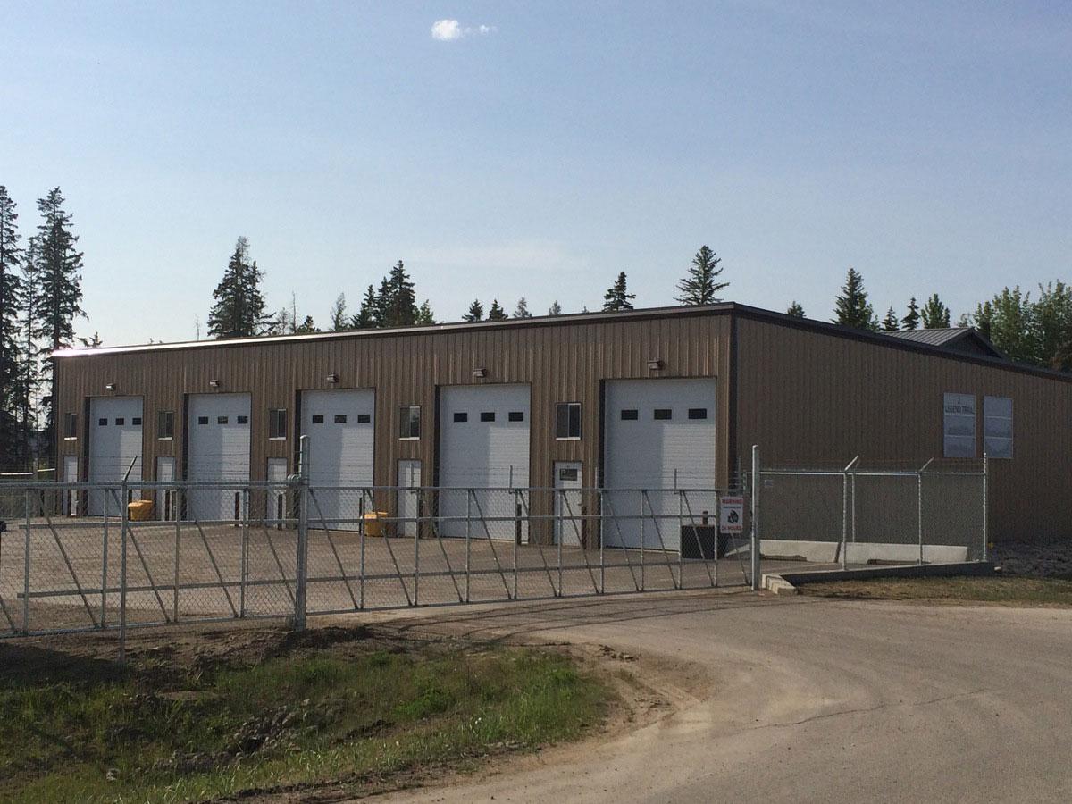 industrial shop building